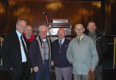 Some of our own elders with Mr Bell the Brethren elder the day we were being shown around: